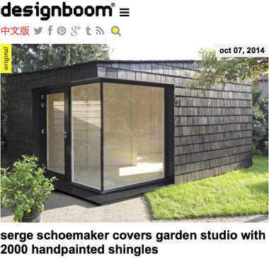 'serge schoemaker covers garden studio with 2000 hand painted shingles'