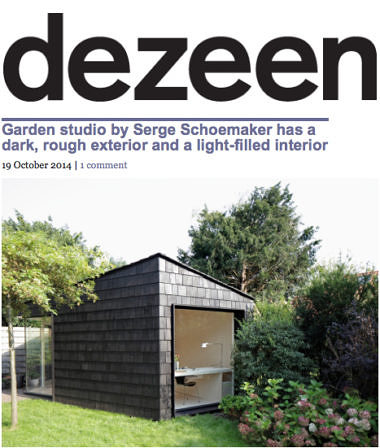 'Garden studio by Serge Schoemaker has a dark, rough exterior and a light-filled interior'
