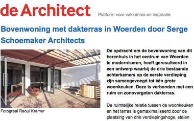 'Bovenwoning met dakterras in Woerden door Serge Schoemaker Architects'