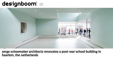 'serge schoemaker architects renovates a post-war school building in haarlem, the netherlands'