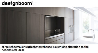 'serge schoemaker's utrecht townhouse is a striking alteration to the neoclassical ideal'
