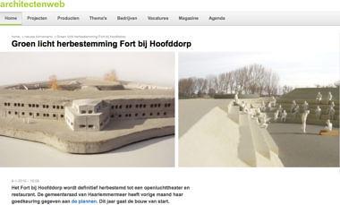 'Groen licht herbestemming Fort bij Hoofddorp'