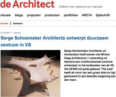'Serge Schoemaker Architects ontwerpt duurzaam centrum in VS'