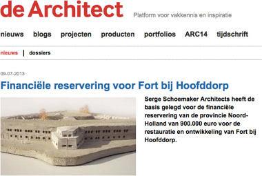 'Financiële reservering voor Fort bij Hoofddorp'